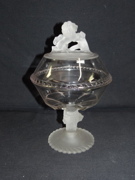 Pattern Glass 19th C. Compote