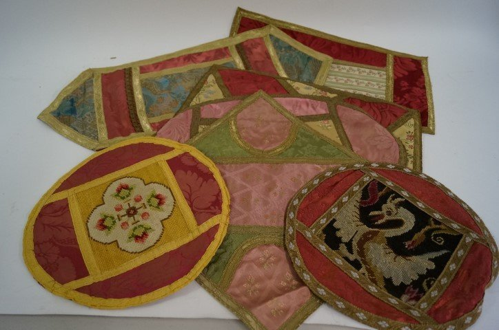 Antique Oriental Dresser Scarves (7)