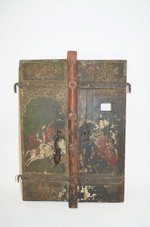 Late 18th C. Painted Wooden Doors