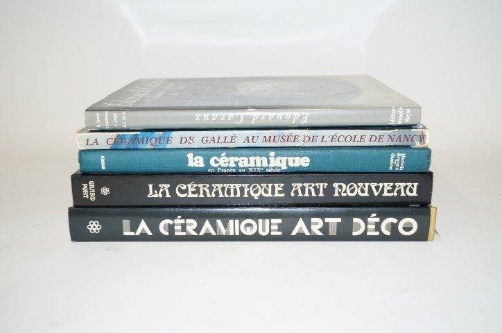 Five(5) Books: Art Deco, Art Nouveau Ceramics