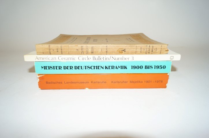 Four(4) Books: French and German Ceramics
