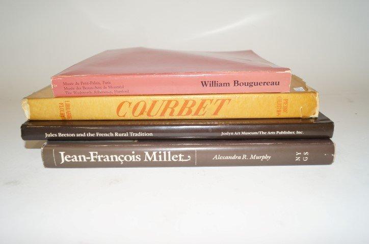 Four(4) Books: Bouguereau; Breton, Courbet and Millet