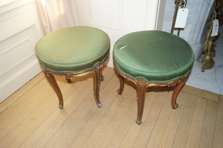 19th C. Louis XV Style Stools (4)