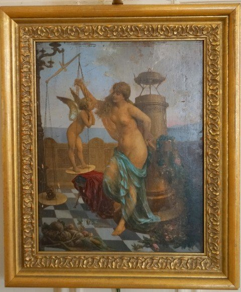 Caille; Oil Painting Signed