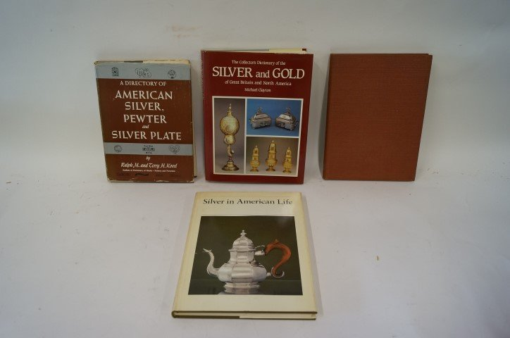 Four(4) Books: Silver, Gold, Pewter, Silverplate, Etc.