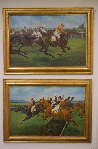 William G. Rogers; Pair of Oil Paintings; English