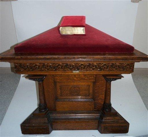 Masonic Royal Arch Triangular Altar