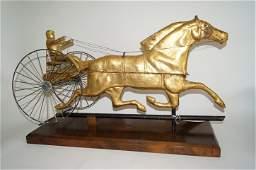 19th C. American Gilt Copper Sulky Weathervane