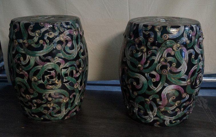 Pair of Oriental Garden Seats