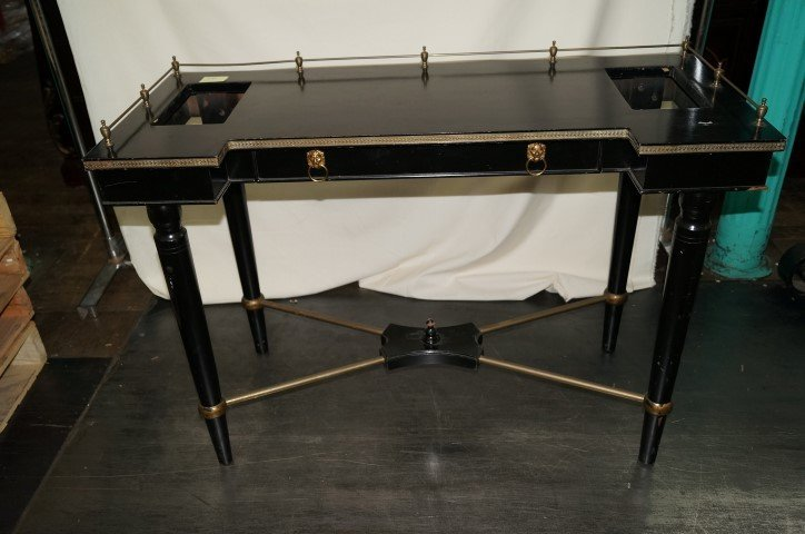 Ebonized Custom Designed Desk Table
