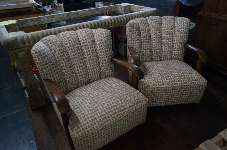 Pair of Oak Framed Chairs