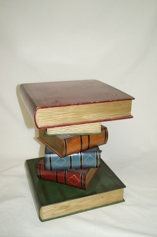 """Carved Wood """"Book"""" Stand"""