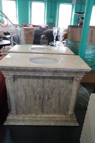 Pair of Marble Top Custom Sinks