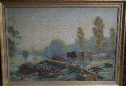 Henry Rankin Poore; American Oil Painting Signed