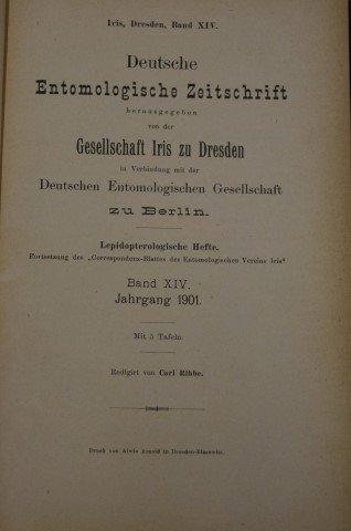 Deutche Entomologische Zeitschrift