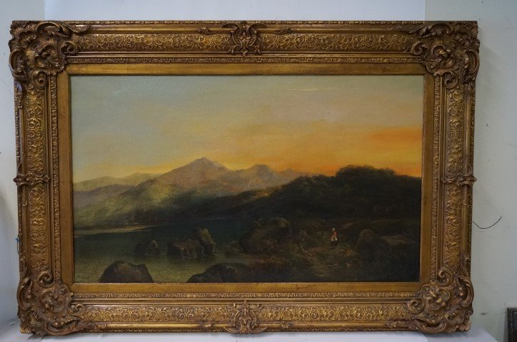 Thomas Doughty;19th C. American Oil Painting Signed