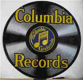 Columbia Records Double Sided Sign