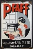 Pfaff Sewing Machine Sign