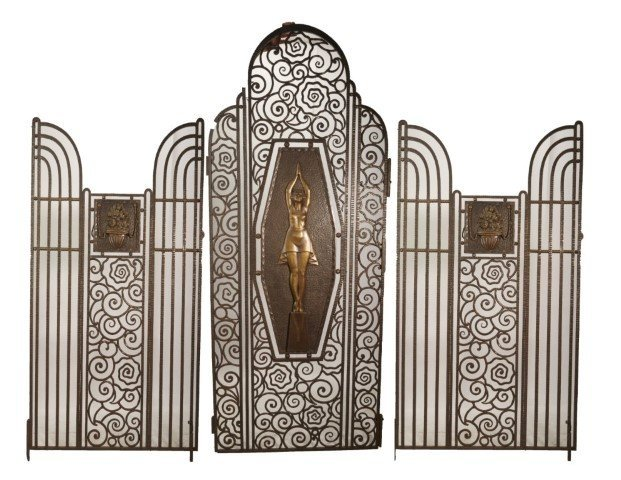 Rare Art Deco Gate Edgar  Brandt