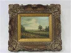 Holt Oil on Canvas Farm Scene