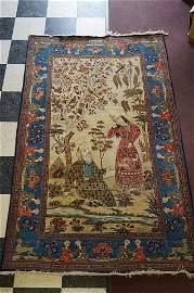 Rare Persian Antique Kashan Carpet