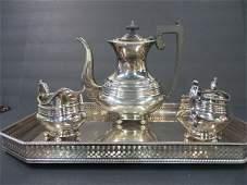 Wallace Silverplated Tea Set & Undertray