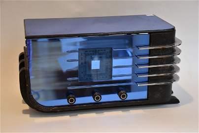 Sparton Blue Mirror & Chrome Radio