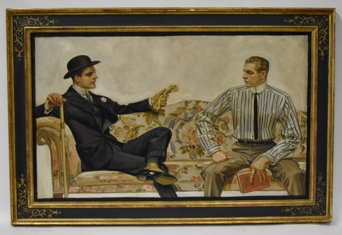 Joseph C.Leyendecker; Oil Painting