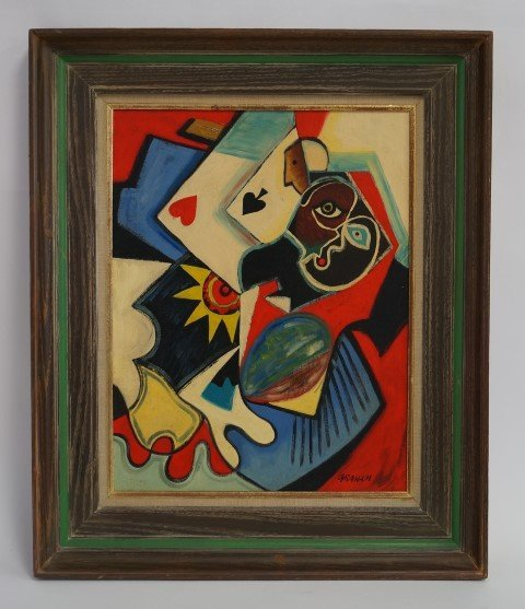 John D. Graham; 20thC. American Oil Painting Signed