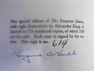 Eugene O'Neill. The Emperor Jones. Signed