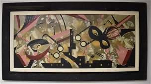 Edgar Stareck; 20thC. Modernist Oil Painting Signed