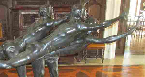 """Bronze. Alfred Boucher. """"Au But"""" Signed"""