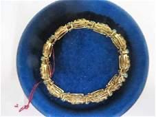 18K YG Bracelet with Semi-Precious Stones