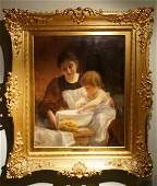 Marcel Rieder. French Oil Painting. Signed