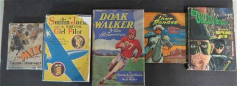 Signed Lone Ranger Book and other Westerns (5)