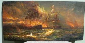 Charles Warren Eaton. Oil. Signed