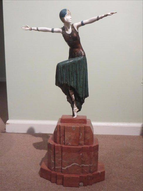 D. H. Chiparus Bronze Ivory Dancer