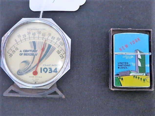 Chicago World's Fair Desk Thermometer 1934