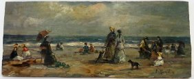 Eugene Boudin Oil Signed.