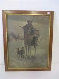Alfred Von Wiersz Kowalski. Oil. Signed