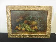Oil Still Life With Fruit Signed Wilson