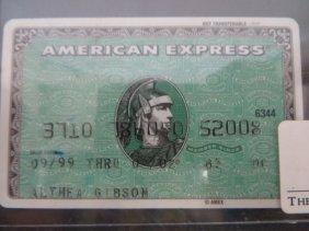 Althea Gibson American Express & Metro Card