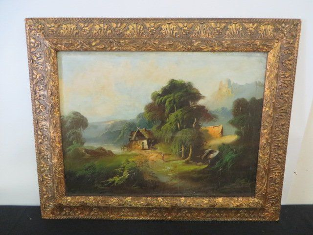 Oil on Canvas. French. Signed Fitzmeyer