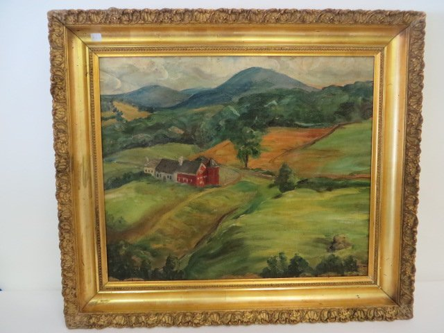 John F. Folinsbee. Oil. Signed