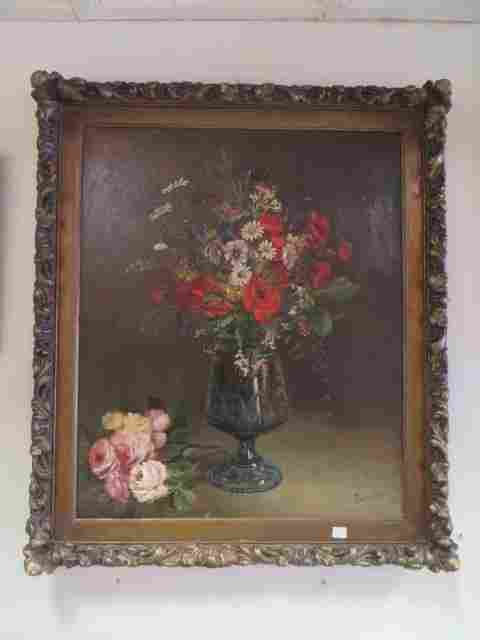 Perinaud. French Oil. Still Life. Signed