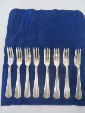 Mexican Sterling Silver Fish Forks (8)