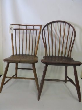 Windsor Side Chairs 19th C. (2)