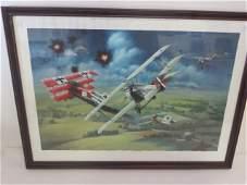 Vintage Airplane Ltd Ed. Lithograph Sgd.