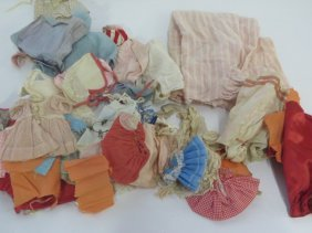 Collector's Lot Of Antique Doll Clothes (50)