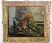 Sheo Sensawa Oil Still Life Signed